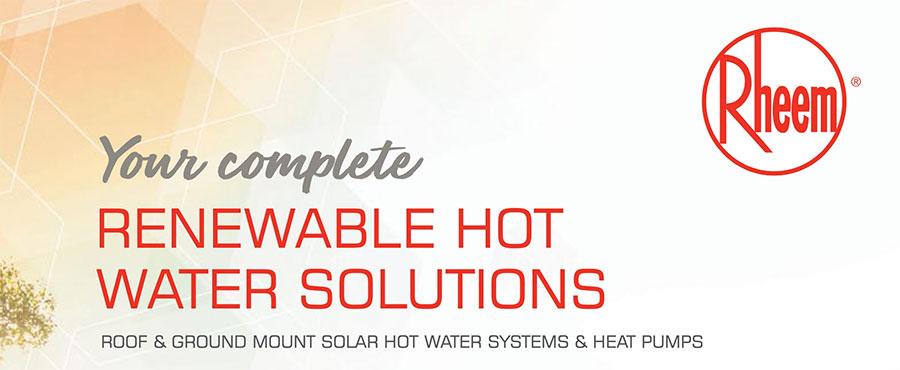 Renewable Energy Hot Water